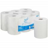 6623 Бумажные полотенца в рулонах Scott Control Slimroll белые однослойные