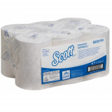 6695 Бумажные полотенца в рулонах Scott Essential Slimroll белые однослойные
